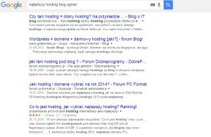 najtańszy hosting blog opinie Szukaj w Google